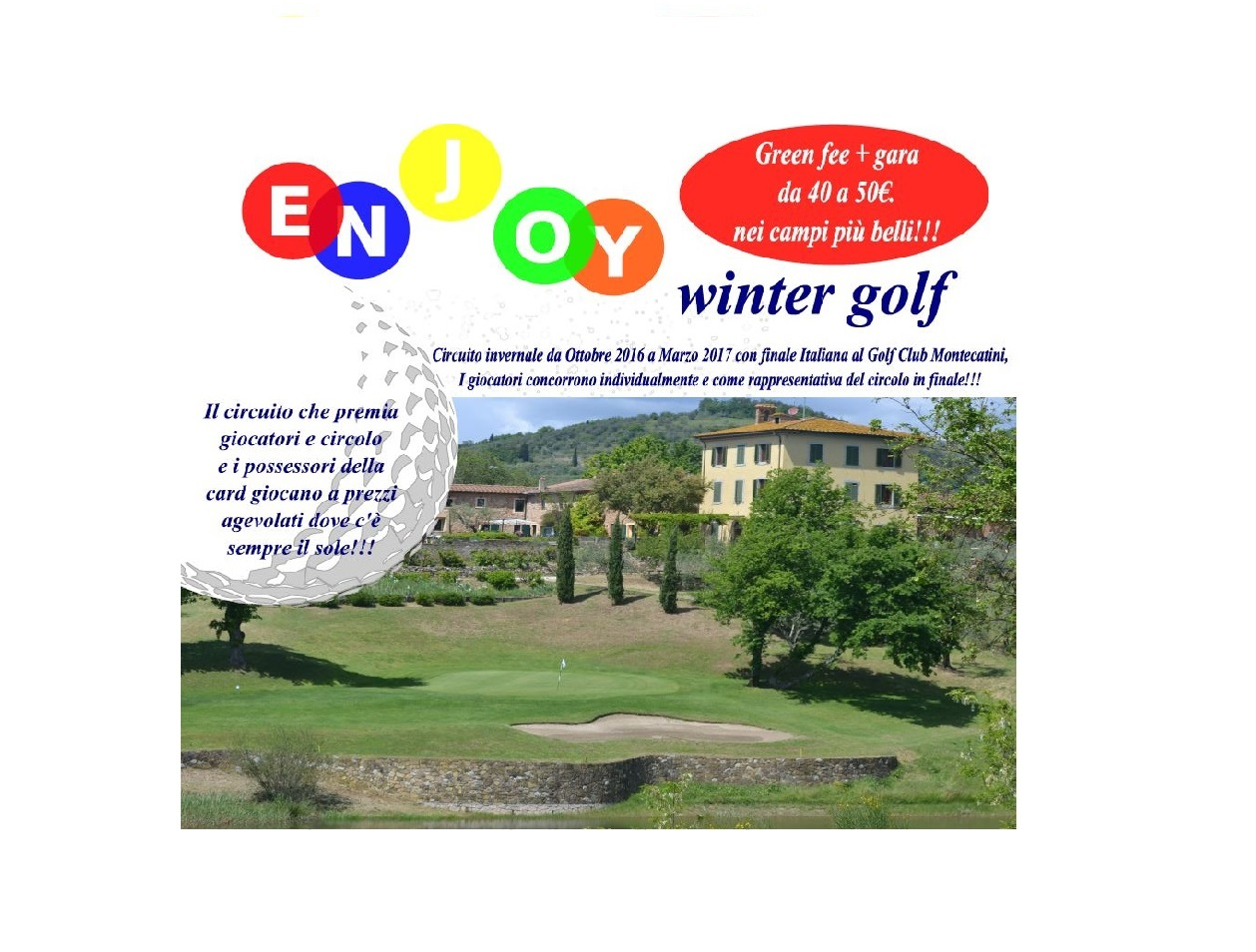 Enjoy Winter Golf